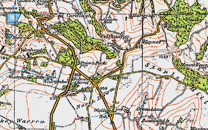 Old map of Westcombe in 1919
