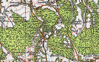 Old map of Holmbury St Mary in 1920