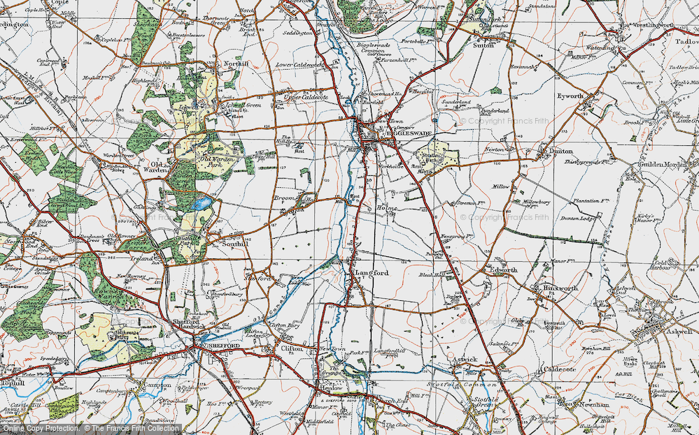 Old Map of Holme, 1919 in 1919