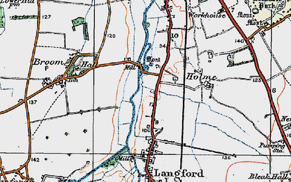 Old map of Holme in 1919