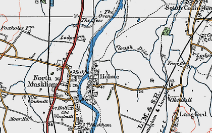 Old map of Holme in 1923