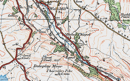 Old map of Limestone Trail in 1924