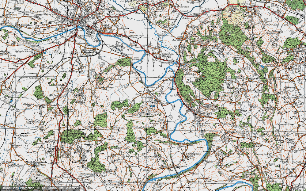 Old Map of Holme Lacy, 1920 in 1920