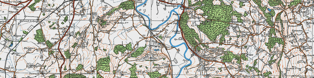 Old map of Holme Lacy in 1920