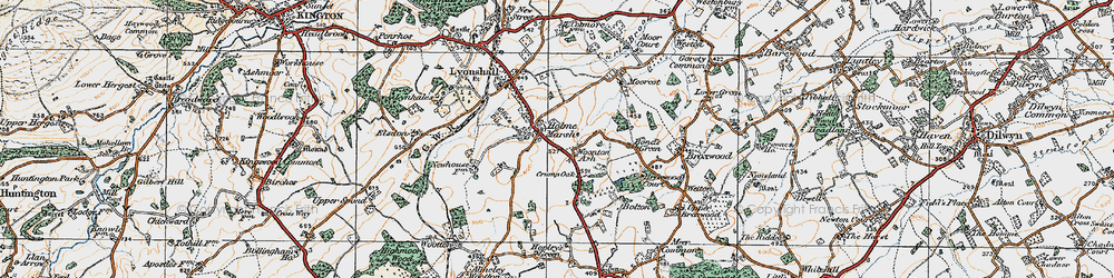 Old map of Woonton Ash in 1920