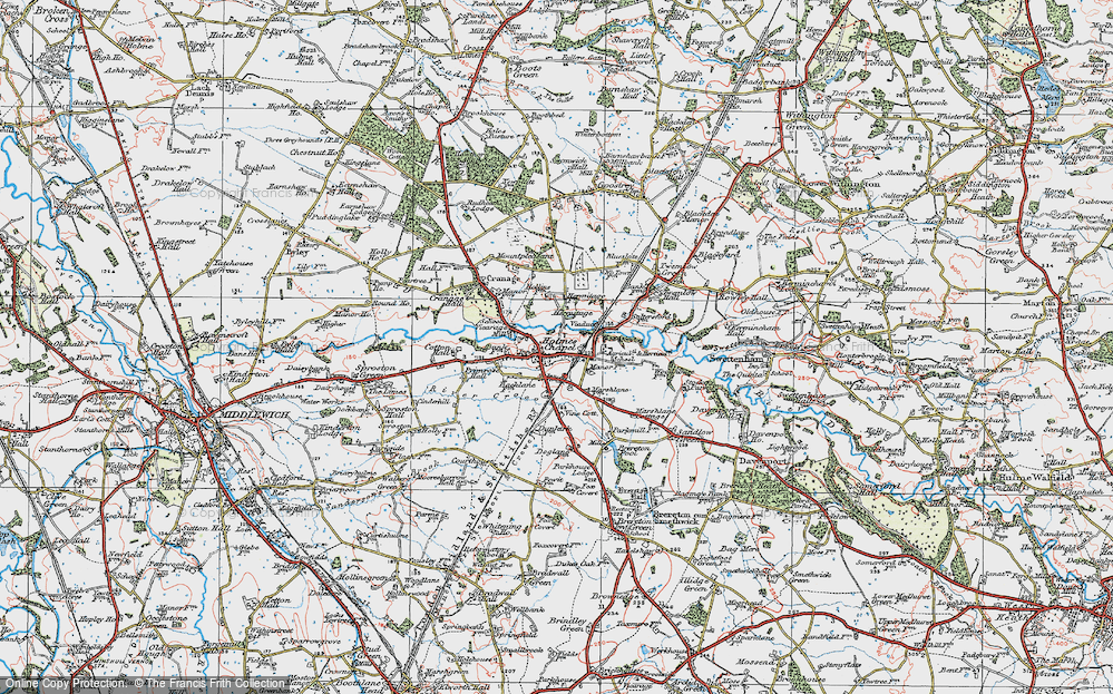 Old Map of Holmes Chapel, 1923 in 1923