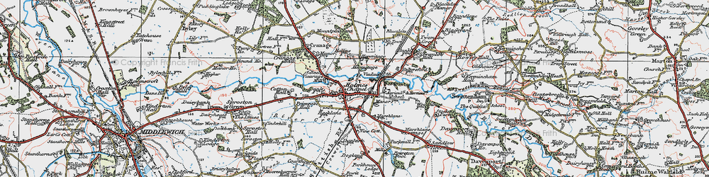 Old map of Holmes Chapel in 1923