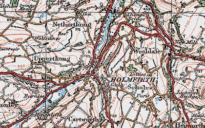Old map of Holmfirth in 1924