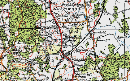 Old map of Anstie Grange in 1920