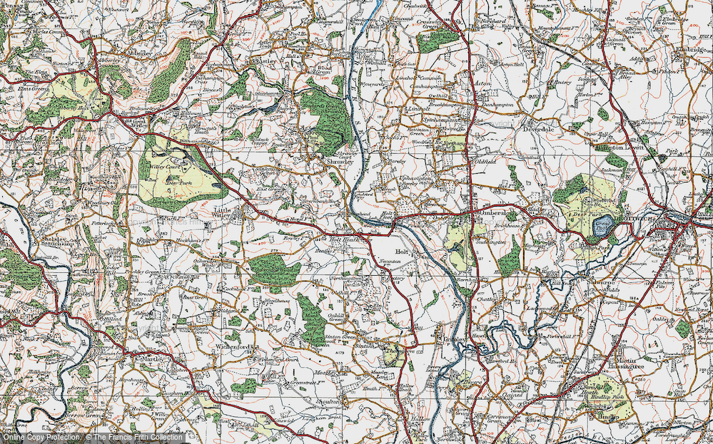 Old Map of Holt Heath, 1920 in 1920
