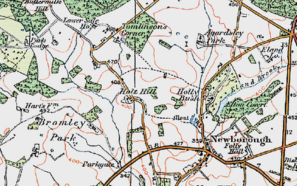 Old map of Agardsley Park in 1921