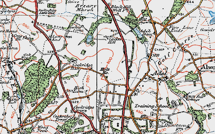 Old map of Adel Dam in 1925