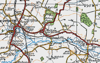 Old map of Holton in 1921