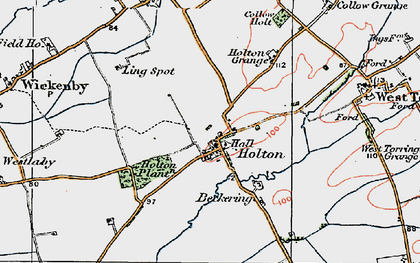 Old map of Wickenby Aerodrome in 1923