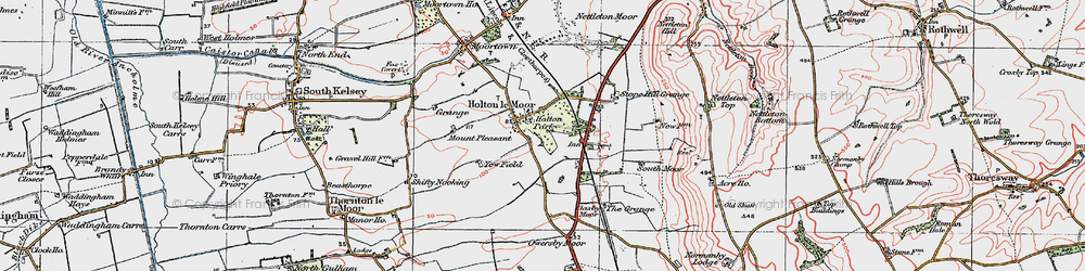 Old map of Yewfield in 1923