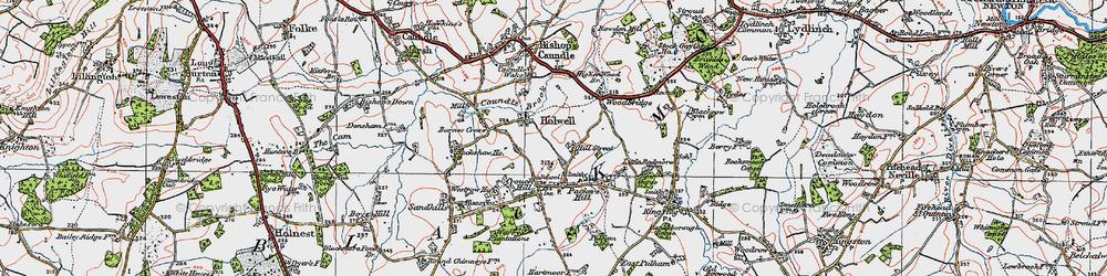 Old map of Woodbridge in 1919