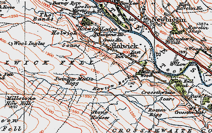 Old map of Wynch Br in 1925