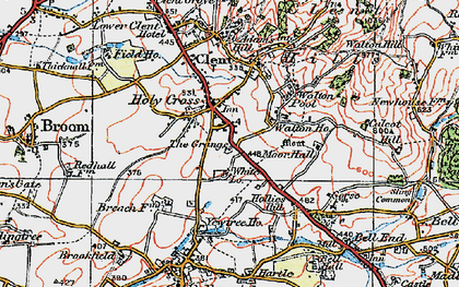Old map of Yew Tree Ho in 1921
