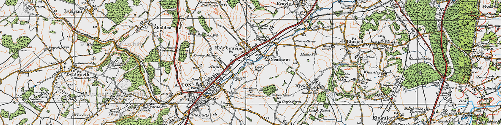 Old map of Holybourne in 1919