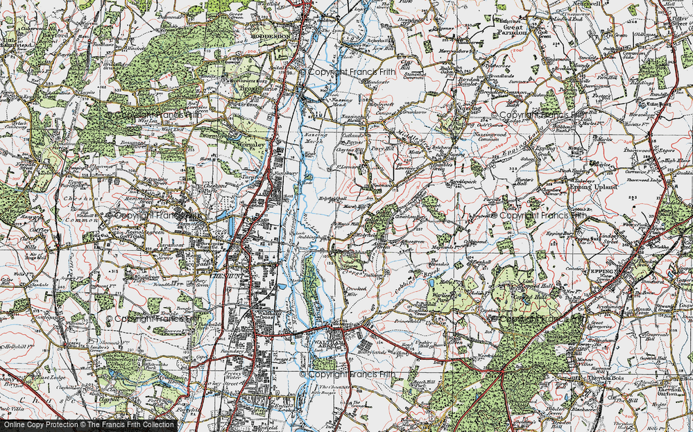 Old Map of Historic Map covering Langridge in 1920