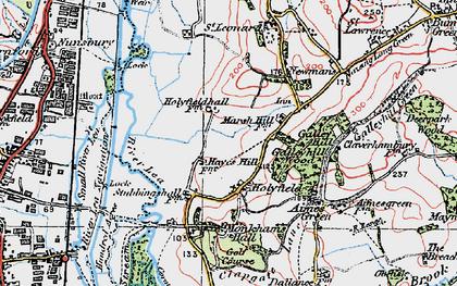 Old map of Langridge in 1920