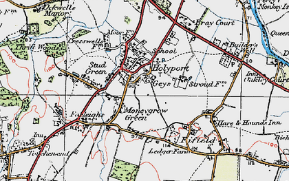 Old map of Holyport in 1919