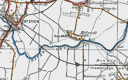 Old map of Holywell in 1920