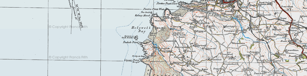 Old map of Lewannick in 1919