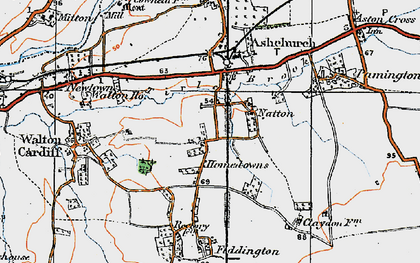 Old map of Tirle Brook in 1919