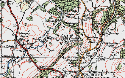 Old map of Wigwig in 1921
