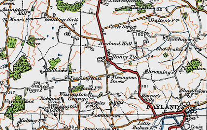 Old map of Arger Fen in 1921