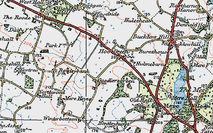 Old map of Winterbottom in 1923