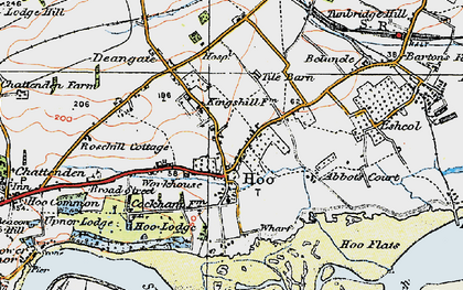 Old map of Abbots Court in 1921