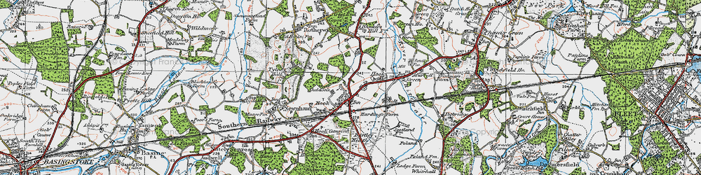 Old map of Hook in 1919