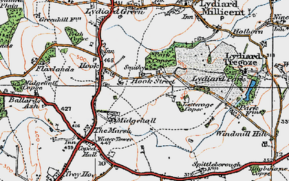 Old map of Letterage Copse in 1919