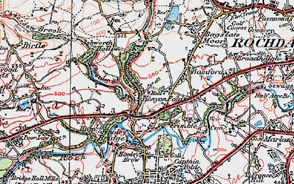 Old map of Bamford Hall in 1924