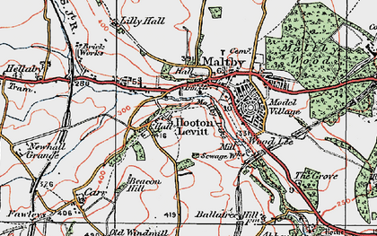 Old map of Wood Lee in 1923