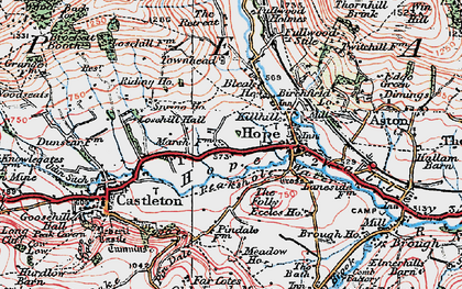 Old map of Hope in 1923