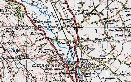 Old map of Tir-y-fron in 1924