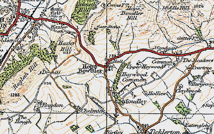 Old map of Woodgate Cott in 1920