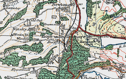 Old map of Winsley Hill in 1920