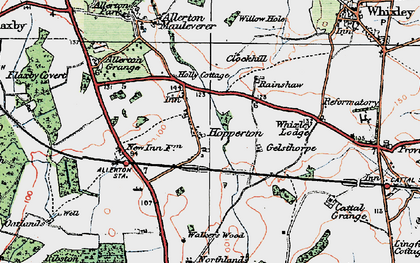 Old map of Whixley Lodge in 1925