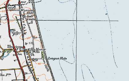 Old map of Hopton on Sea in 1922
