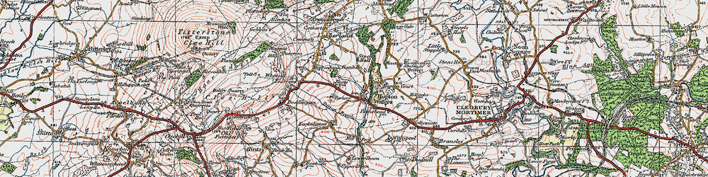 Old map of Woodhouse in 1921