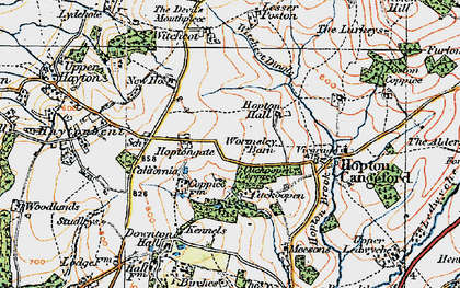 Old map of Witchcot in 1921