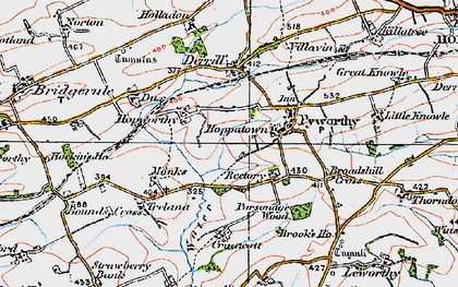 Old map of Worthen in 1919
