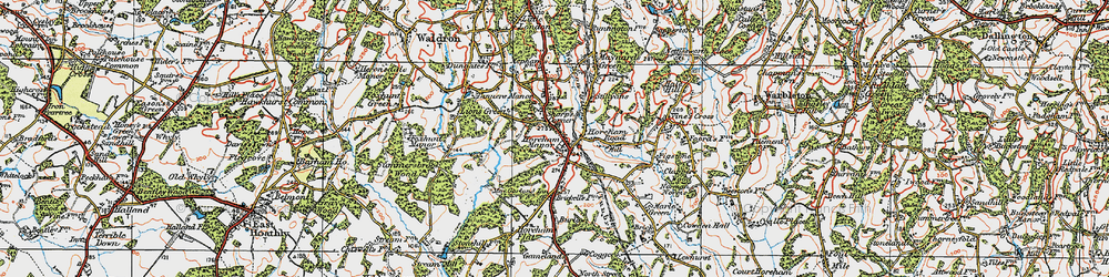 Old map of Horam in 1920