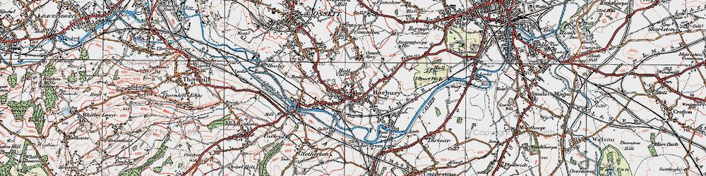 Old map of Horbury in 1925