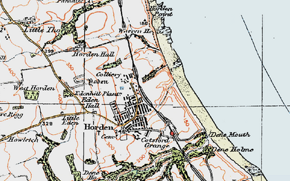 Old map of Yoden Village in 1925