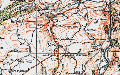 Old map of Ystrad in 1923